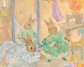 Letitia Rabbit's String Song by Russell Hoban, illustrated by Mary Chalmers