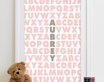 Baby Girl art, Girl nursery decor, baby Girl wall art baby Girl decor, Girl nursery print Girl nursery art Family Playroom Rules Sign Subway