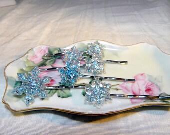Snowflake hair pins