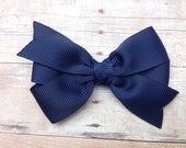 Adorable 3 inch navy blue hair bow - navy blue bow
