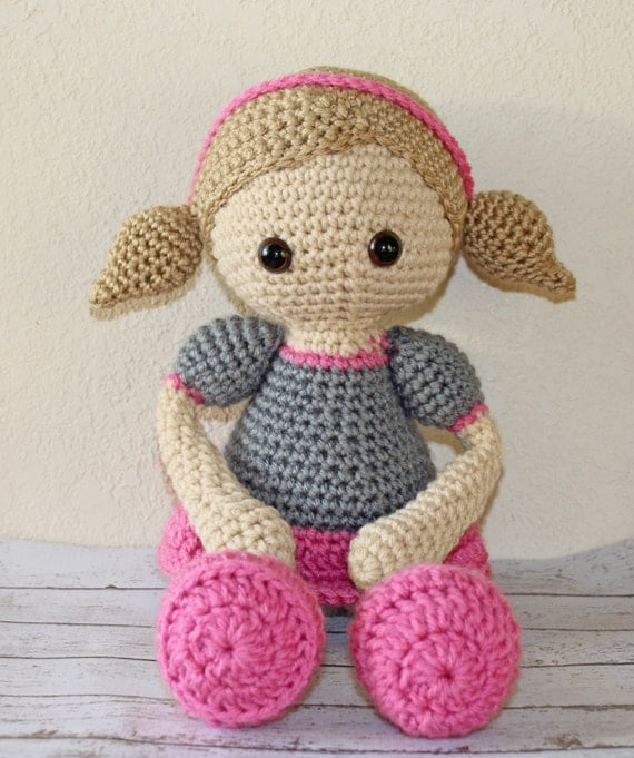 Amigurumi Doll Eyes : Items similar to crochet doll with pigtails and safety