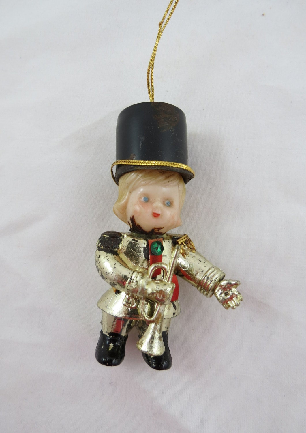 Vintage christmas ornament marching band by