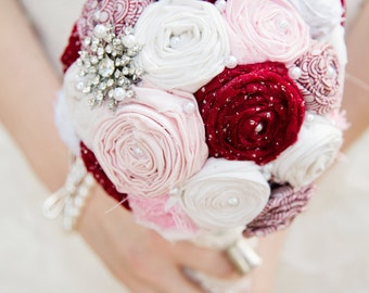 Painting the Roses Red Bridal Bouquet