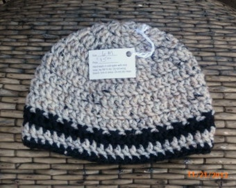 Crocheted Oatmeal Hat 6 months