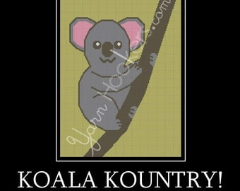 Koala Kountry - Afghan Crochet Graph Pattern Chart - Instant Download