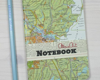 NOTEBOOK, TRAVEL JOURNAL, Netherlands, Amsterdam, Haarlem, 4x5,7inch, 64 pages, blank, travel journal, diary, notebook, atlas, map, vintage