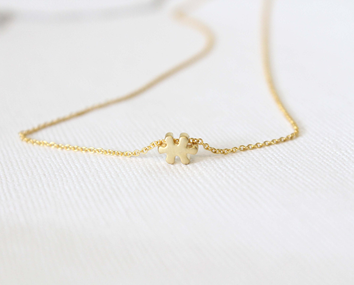 puzzle necklace dainty charm necklace tiny by