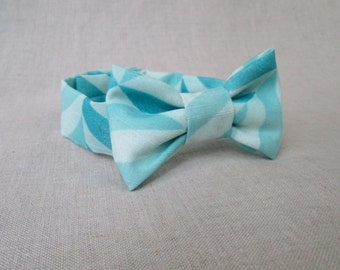 Boys Bow Tie - Ocean Blue Ready to Ship Bow Tie Newborn Photo Prop to 2 Year Old Boy Photography Prop - Toddler Bow Tie - Baby Bow Tie