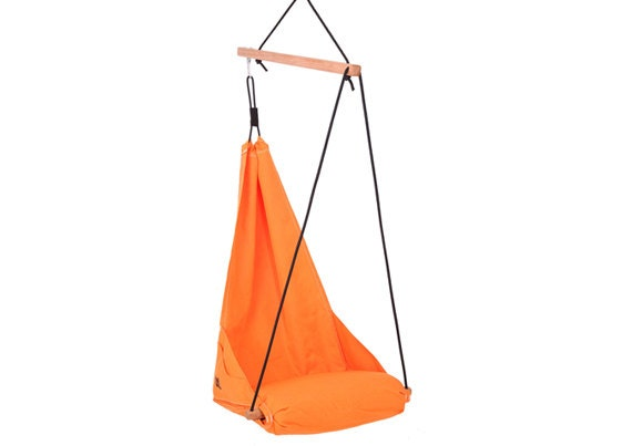 Special Patent Hanging Chair / Hammock Chair / Porch Swing / Indoor Swing /  Outdoor Patio Furniture / Lounge / Color Deep Orange (Hang Solo)