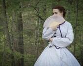White/Purple Floral Civil War Day Dress