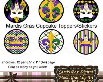 340 x 270 jpeg 57kB, Mardi Gras Cupcake Toppers, Printable CupCake ...