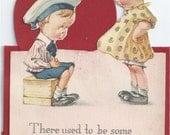 Vintage Valentine Card Twelvetrees Two Little Kids 1920