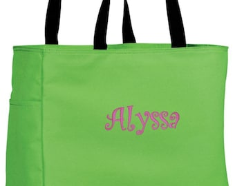 One Personalized Tote Bag Personalize Bridesmaid Gifts Pool Bag Beach Bags Custom Gift Ideas Tote Cre8ivGifts