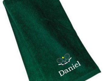 Tennis, Towel, Custom Sports Towels, Tennis Towels Personalized, Tennis Banquet Towels, Tennis Gifts, Embroidery, Gifts for Him