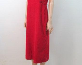 Vintage 80's Dress Medium 90's Dress Grunge Dress Medium Minimalist Dress Jumper Dress Red Dress Tank Dress Boho Dress Slouchy Dress H