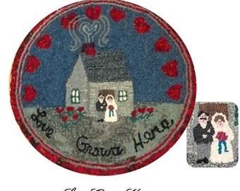Love Grows Here Wedding Rug/ Wall art
