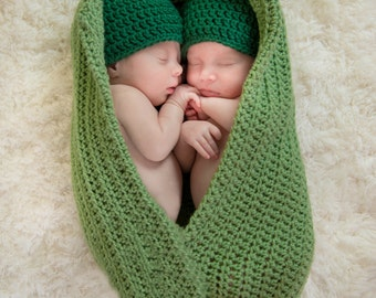 newborn twin peapod prop peas in a pod twin photo prop newborn twins