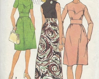 Vintage 1970's Dress Sewing Pattern Simplicity 5236