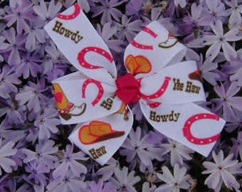 Small Cowgirl Hair Bow/Cowgirl Birthday Party Favors
