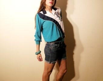 SALE Vintage Regal Blue Sailor Blouse Size Medium