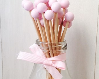 "6"" Ball Wooden Sticks for Rock Candy, Cake Pop  - Set of 24"