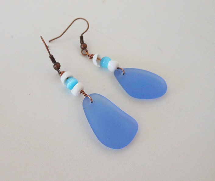 sea glass earrings nautical and by empyreanartistry