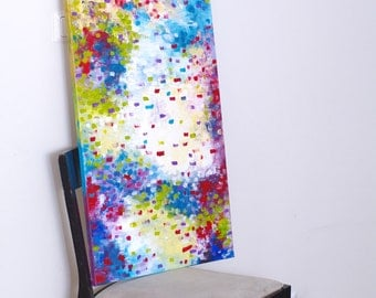 Vertical wall art Large Canvas art Vertical wall canvas art Abstract painting Original painting Fine art Abstract artwork Colorful art