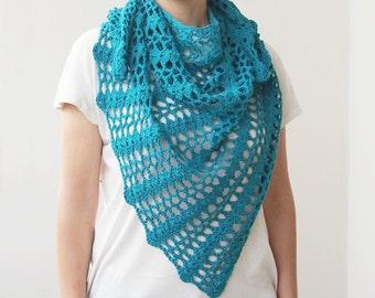 Crochet pattern shawl, crochet triangle shawl, crochet lace shawl, woman shawl, crochet wrap, DIY, PDF pattern