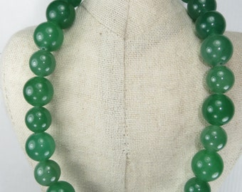 Green gemstone chunky necklace, Antique gold and Green aventurine choker necklace, simple necklace, Green jewelry
