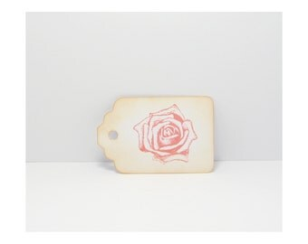 Rose Tags, Rose Gift Tags, Tags, Gift Tags, Wedding Tags, Rustic Gift Tags, Shabby Tags, Distressed Tags, Wish Tree Tags, Wishing Tree Tags