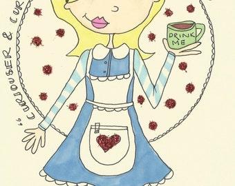 "Alice In Wonderland Card (7""x5"")"