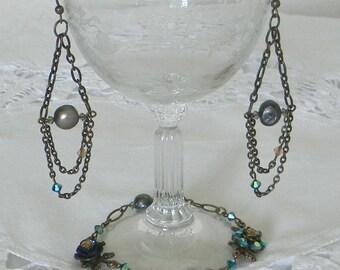 One of Kind Boho Chic Bracelet and Earrings