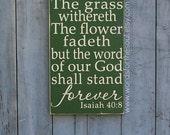Isaiah 40:8 - Bible Verse Wall Art - Rustic - Wood Signs - Scripture Wall Art - Christian Wall Art - Word Of God - Wall Decor - Wooden signs