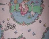 Vintage Precious Moments Twin Size Fitted Sheet