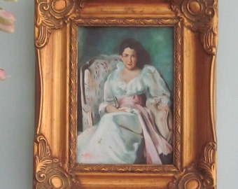 Oil Painting Copy Of Sargent In Gold Frame