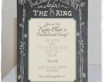 CHALKBOARD THEME INVITATIONS - Save the Date, Bachelorette, Shower, General, Rehearsal Dinner - Invites Personalized