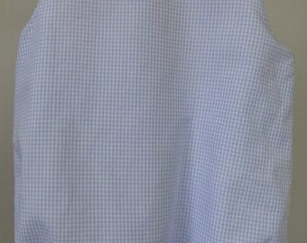 Cotton Gingham Button-Shoulder Baby Bubble for Boys or Girls--Ready to Monogram or Applique