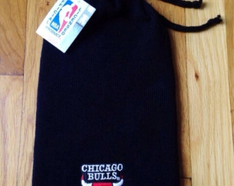 vintage chicago bulls slouchy beanie adult OSFA deadstock NWT 90s made in USA