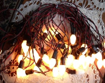 Set of Vintage Christmas String Lights circa 1950s