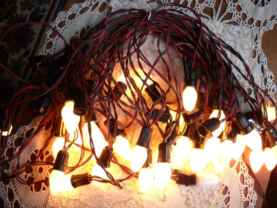 Retro Christmas String Lights : Set of Vintage Christmas String Lights circa 1950s
