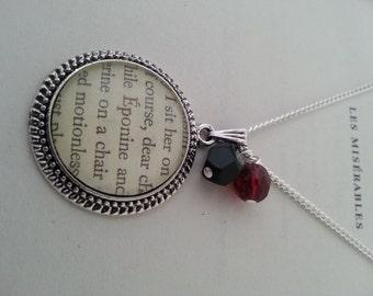 Les Miserables Eponine Book Page Necklace