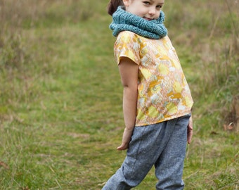 Knitted Ribbed Infinity Reversible Cowl PDF Pattern - Mallory Child & Adult Version