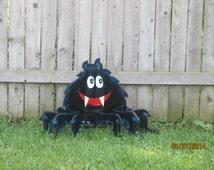 Halloween Scary Hairy Spider, 3D, Halloween Spider, Hallowen Decor, Self-standing Spider, Halloween Wood Lawn Ornament, Yard Art Decoration