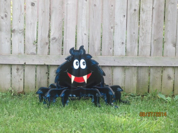 Halloween Scary Hairy Spider, 3D, Halloween Spider, Hallowen Decor, Self-standing Spider, Halloween Wood Lawn Ornament, Yard Art Decoration