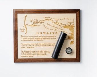 Personalized Engraved Plaque, Wood Plaque, Award, Retirement, Corporate Gift, Custom Designed Plaque