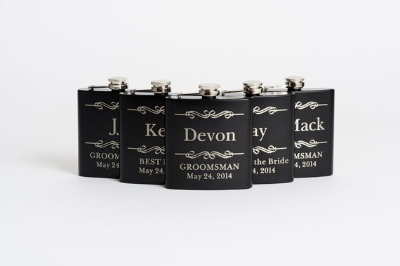 Groomsmen Gift, Flask, Stainless Steel Flask, Personalized Best Man Gift, Wedding Party Gift, Flasks