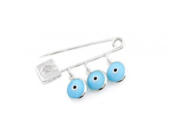 Evil Eye Safety Pin