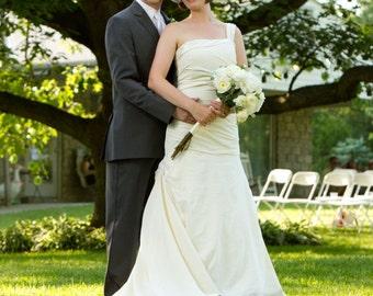 Asymmetrical Trumpet Wedding Gown
