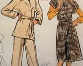 Vintage Misses Jumper, Tunic, Blouse, and Pants Pattern, Vogue 8720, 1980s Uncut Sewing Pattern