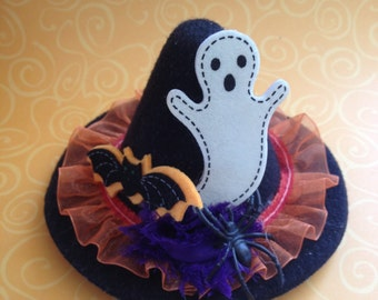 Halloween Top Hat- Ghost, Bat and Spider Top Hat